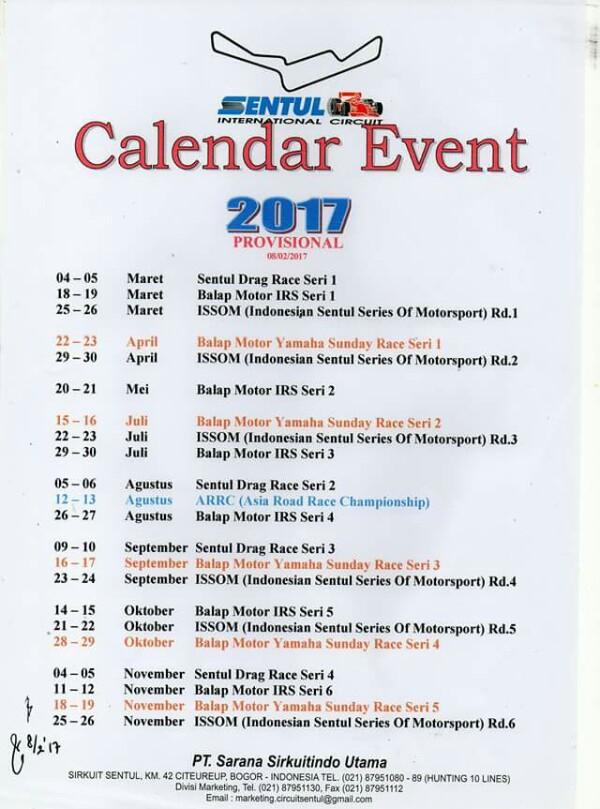 kalender sentul